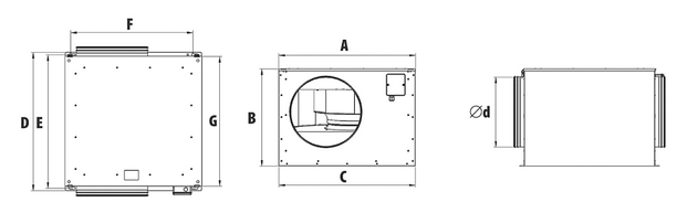 Wymiary wentylatora harmann ECOOX EC