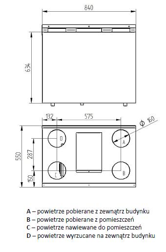 wymiary rekuperator wanas 350 V
